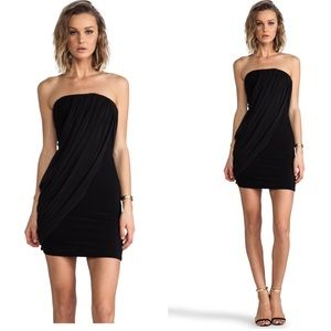 Alice + Olivia Front Drape Tube Dress in Black